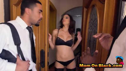Young guys pleasured by nasty milf