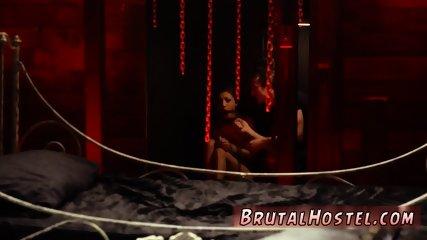 Enema bdsm and anal sex slave starts pummeling her little coochie in his decrepit bed.