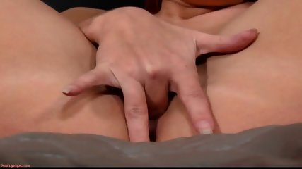 Pretty Brunette Plays With Pussy - scene 9