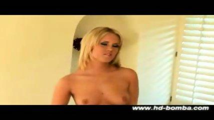 Hot Blonde Sasha Knox hardcore solo - scene 3
