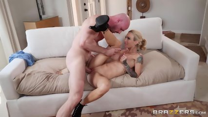 Inked Delivery Babe Gets Fucked - scene 11