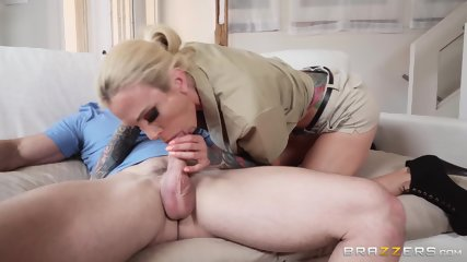 Inked Delivery Babe Gets Fucked - scene 3