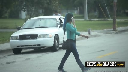 Horny milf cops chase and catch latino purse snatcher