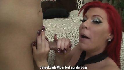 Jizz On Redhead's Face - scene 11