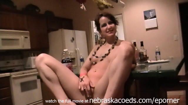 Strange Crazy Wild Glow Stick Party Girl Object Masturbation Late Night Spring Break Underground Video