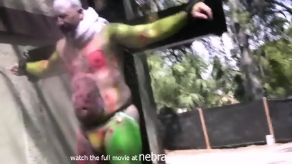 Naked Girls Paint Ball Guns For Radio Show Shock Jock Like Howard Stearn Bubba Tampa Florida - scene 8
