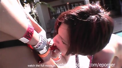 Fetish Spring Break Party Girls Pussy Object Stuffing Drinking And Strapon Choke Outs - scene 2
