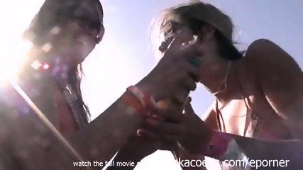 Whipped Cream Wild Licking Sucking Tasting College Party Girls On Spring Break Cellphone Video - scene 11