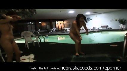 Skinny Dipping In Hotel After Hours In Cedar Rapids Iowa - scene 3