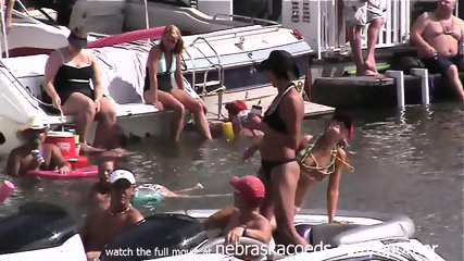 Crazy Girls Drinking And Partying In Public - scene 10