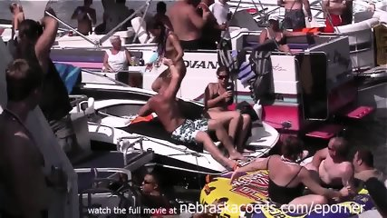 Crazy Girls Drinking And Partying In Public - scene 3