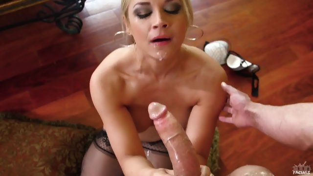 Cum On Slutty Blonde's Face