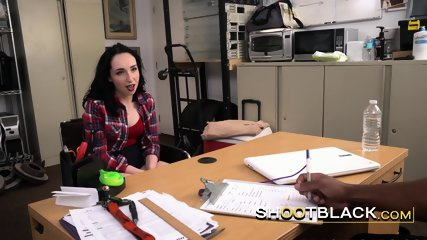 Chick with a perspective gets her coochie stuffed by horny directors BBC