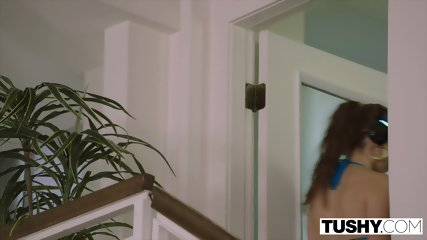 TUSHY Hipster Teen Gapes For A Married Man - scene 2