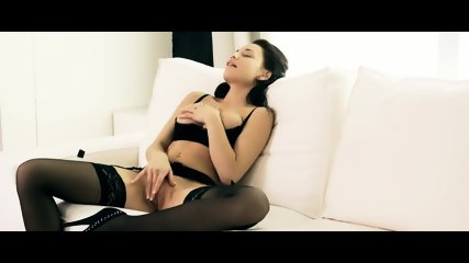 Sexy Brunette Touches Her Pussy - scene 8