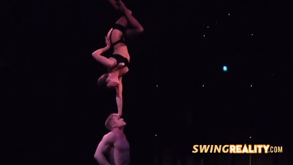Couple is impressed with the beauty of the swingers mansion