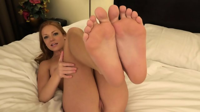 Attractive Girl With Sexy Feet