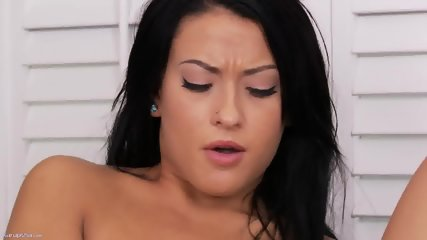 Charming Brunette Takes Off Clothes - scene 10