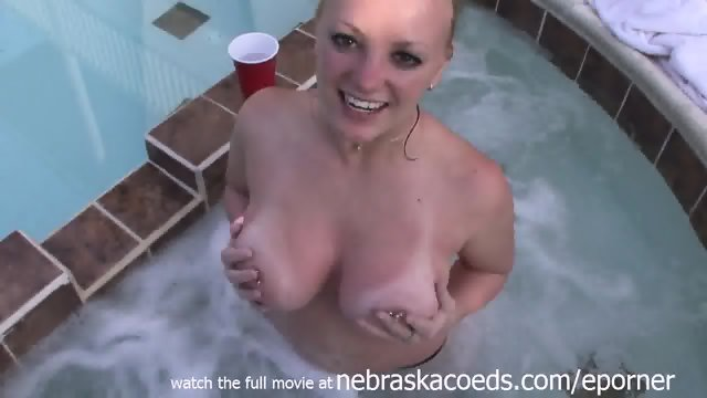 Young Teen With Huge Tits In My Hot Tub Naked