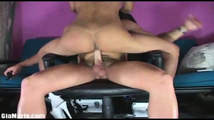 Tight stripper sits on a cock - scene 12