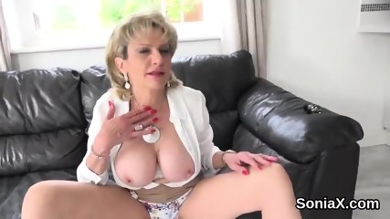 Unfaithful british milf lady sonia shows off her large jugs