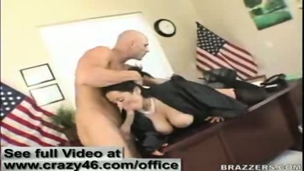 Sienna West tackles on a hard dick in her office - scene 5