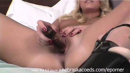 Nervous Natural Blonde First Time Video Using Dildo - scene 10