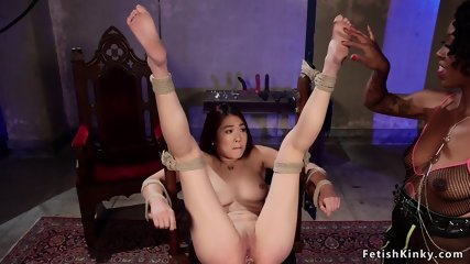 Black dom anal fucks redhead Asian