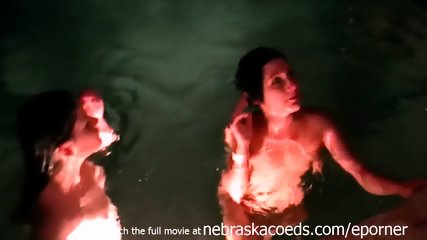 Real Hot Tub Party Gets Out Of Hand With Girls Tasting And Licking Pussy For The First Time - scene 5