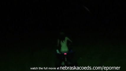Literally A Hot Redhead Farmers Daughter Naked While Partying On Family Farm In Iowa - scene 12