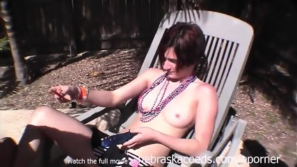 Using A Dildo On Her Friend During Spring Break South Padre Texas - scene 1