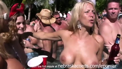 Naked Pool Party Key West Florida Real Vacation Video - scene 11
