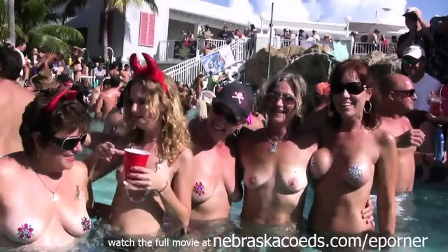Naked Pool Party Key West Florida Real Vacation Video