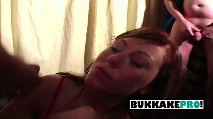 First time amateur bukkake facial and cumshots