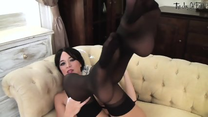 Naked Brunette With Awesome Legs - scene 12