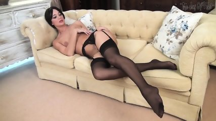 Naked Brunette With Awesome Legs - scene 5
