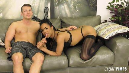 Ebony Bitch With Stockings - scene 1
