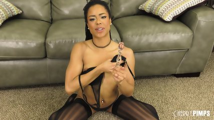 Ebony Bitch With Stockings - scene 3