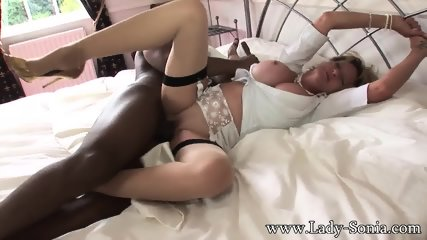 Mature Lady With Big Tits Takes Black Cock - scene 10
