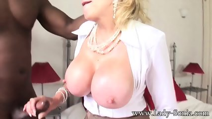 Mature Lady With Big Tits Takes Black Cock - scene 3