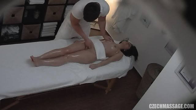 Masseur Touches Her Intimate Places