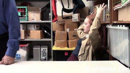 Redhead Teen Got Caught Stealing