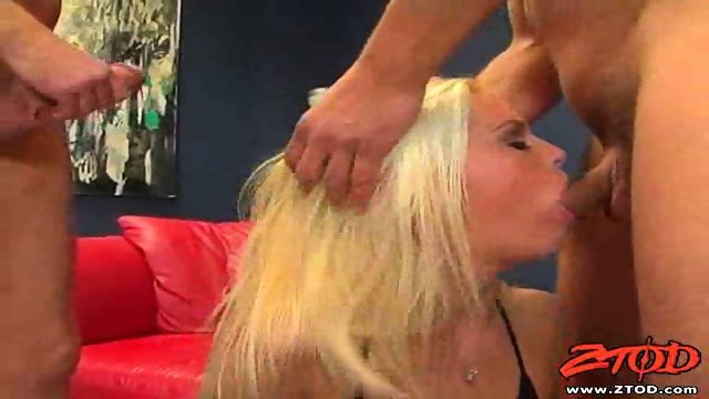 Small titted tight blonde gets DPed
