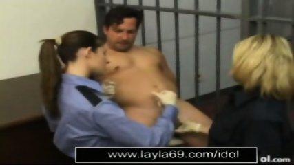 Prison guard jerks off guy for sperm sample - scene 11