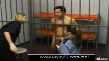 Prison guard jerks off guy for sperm sample - scene 2