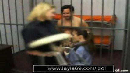 Prison guard jerks off guy for sperm sample - scene 3