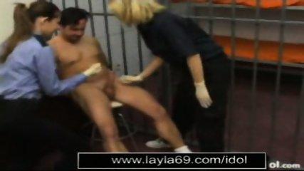 Prison guard jerks off guy for sperm sample - scene 5