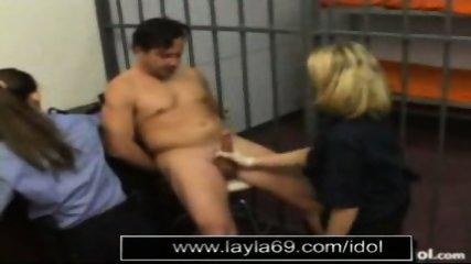 Prison guard jerks off guy for sperm sample - scene 6