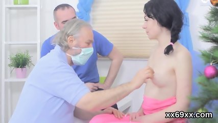 Physician observse hymen physical and virgin girl nailing