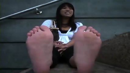 Chinese hot feet POV in public